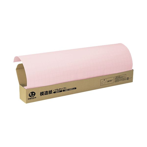 スマートバリュー P152J-P6 方眼模造紙プルタイプ50枚ピンク P152JP6
