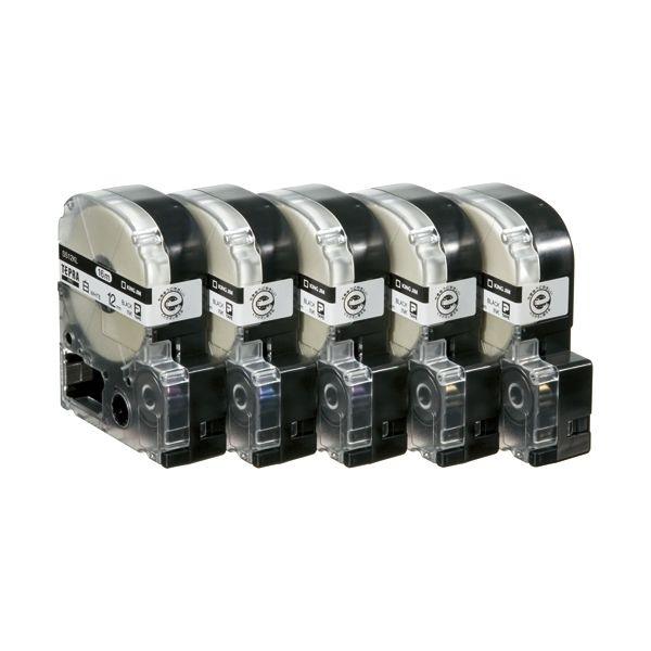 2147345065849 キングジム PROテープロング SS12KL 白に黒 12mm 20個