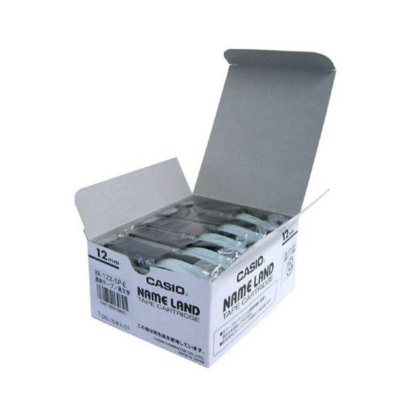 2147345065962 カシオ計算機 テープ XR-12X-20P-E 透明に黒文字12mm20個
