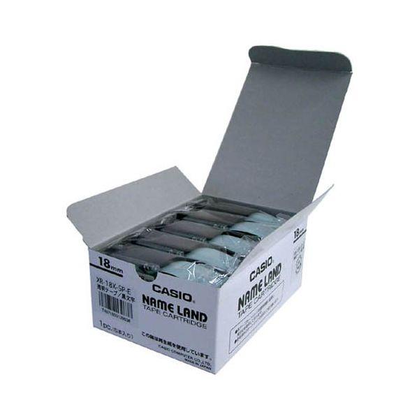 2147345065993 カシオ計算機 テープ XR-18X-20P-E 透明に黒文字18mm20個