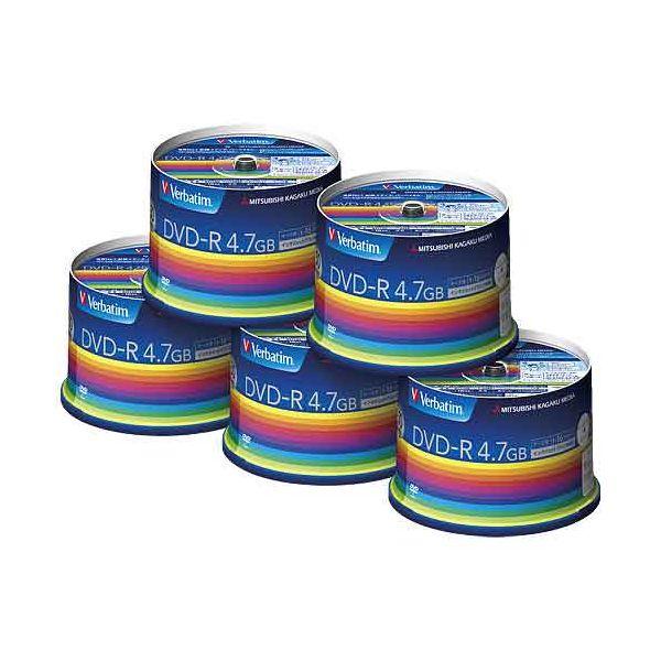 4991348066536 三菱ケミカルメディア データ用DVD-R 250枚 50枚*5 DHR47JP50V3C