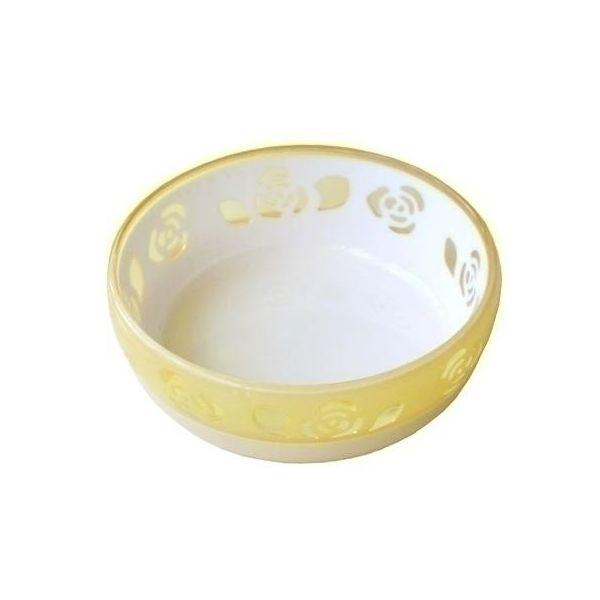 4984937552497 おいしく見えるニャン食器 マーケット ミニ ローズ 格安SALEスタート 黄 キャンセル不可 12個入