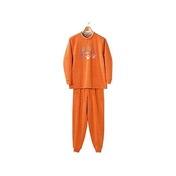 4985697221579 お買得 裏起毛パジャマ オレンジ LL キャンセル不可 卸直営 ねまき kt420439 衣類 セルヴァン