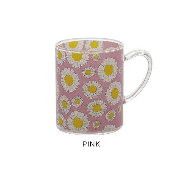 4516344084249 【9個入】 STUDIO HILLA デイジー 耐熱ガラスマグカップ PINKA214PK