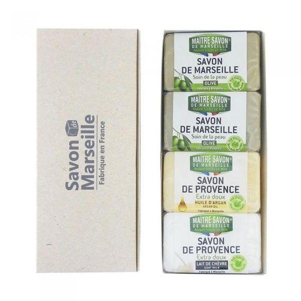 4580118273504 【48個入】 サボン・ド・マルセイユ ギフトセレクション 4pcs100g×4