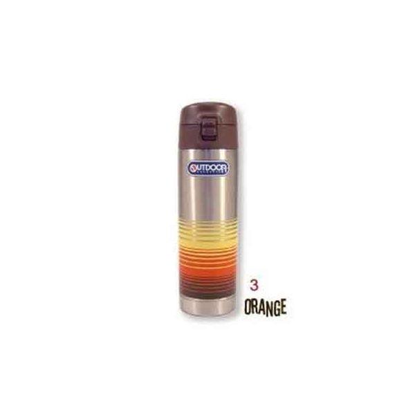 4515424017306 【5個入】 アウトドア ステンレスボトル ワンプッシュサーフボーダー オレンジ 34424
