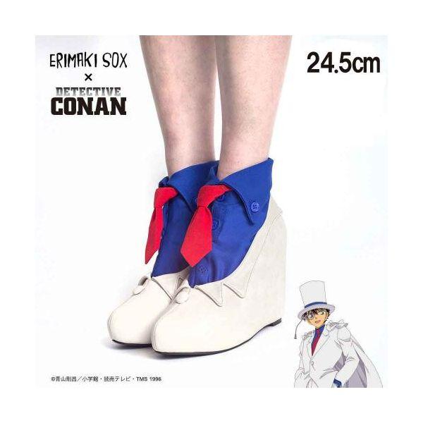 67143 【3個入】 ERIMAKI SOX 名探偵コナン×エリマキソックス キッドVer パンプス&靴下セットパンプス:24.5cm/靴下:23-25cm 35395