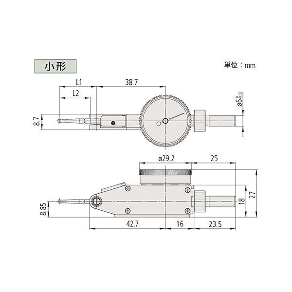 ミツトヨ Mitutoyo TI-412HX 513-465-10H テストインジケータ TI412HX51346510H