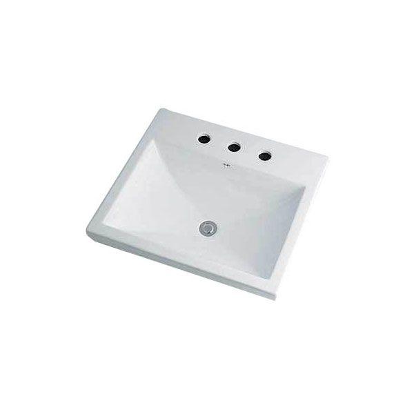 カクダイ 493-092 角型洗面器/3ホール 493092