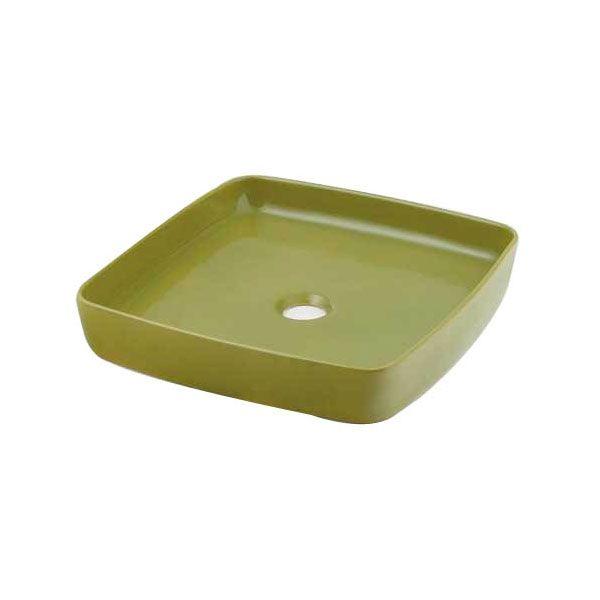 カクダイ 493-096-GR 角型手洗器/ピスタチオ 493096GR