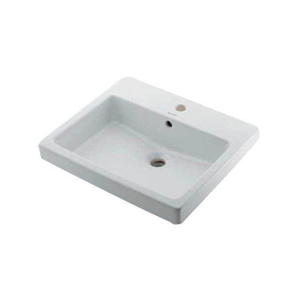 カクダイ DU-0315550000 角型洗面器/1ホール DU0315550000