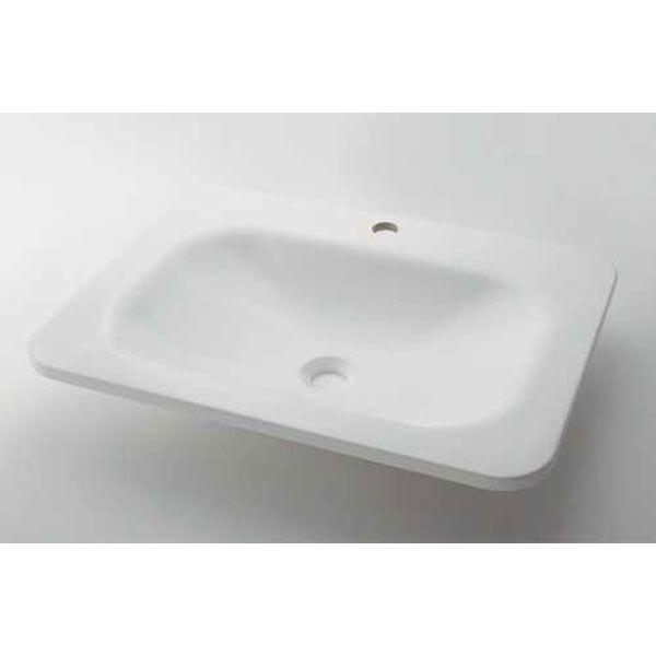 【ポイント最大20倍 4月5日限定 要エントリー】カクダイ MR-493220W 角型洗面器ホワイト MR493220W