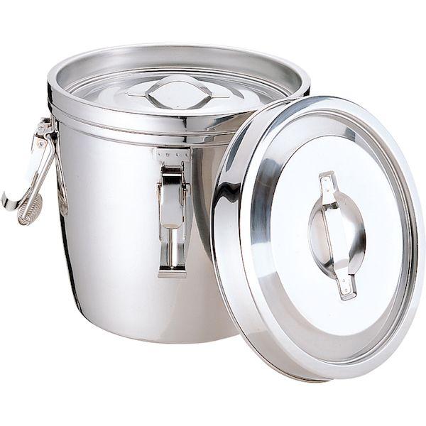 4967151010257 エムテートリマツ MT 18-8二重汁食缶 クリップ付 両手式 14L