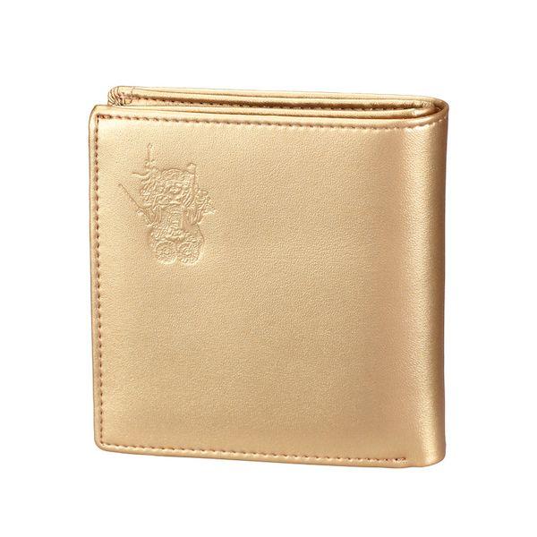 K12072-3 本日限定 特価キャンペーン 三面大黒天 如意財布 K120723 ゴールド 二つ折り財布