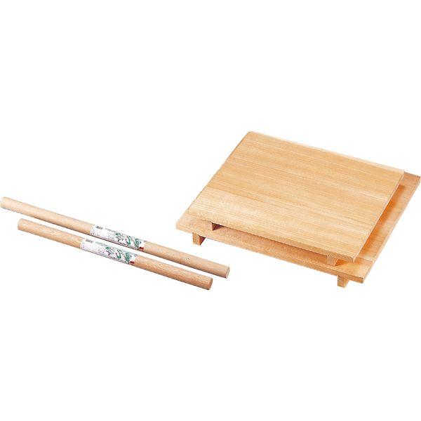 4952135060809 ナガノ産業 木製麺台 麺棒付スプルス 中 60×80×7.5cm