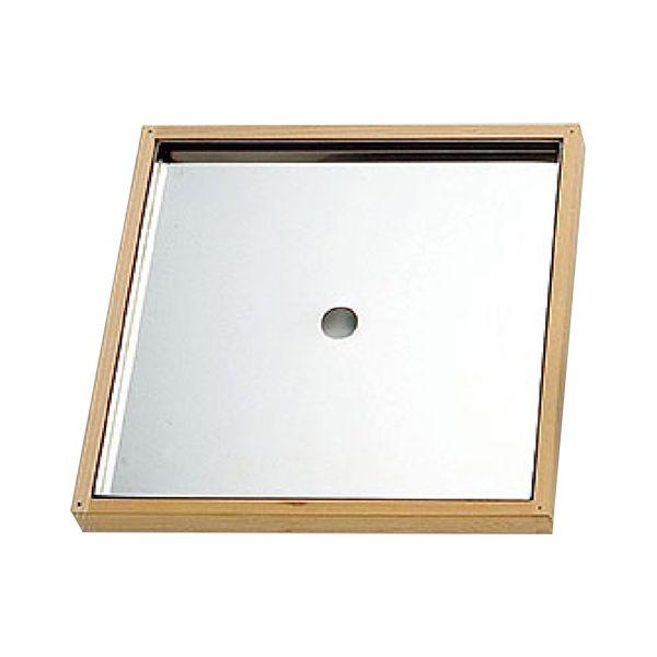 4988484201730 ヤマコー 椹 お座敷セイロ 7寸用箱型スリ蓋ステン中子付