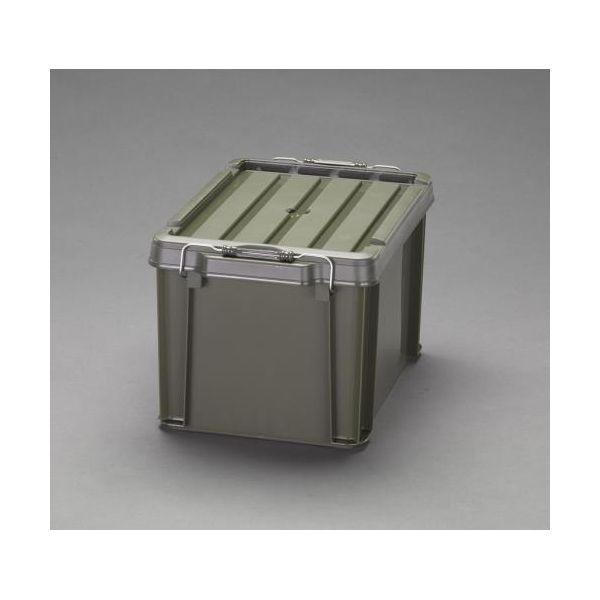 【個人宅配送不可】EA506AB-147B 直送 代引不可・他メーカー同梱不可 624x450x330mm 収納ケース バックル付/ODグリーン3個 EA506AB147B