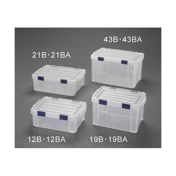 【個人宅配送不可】EA506LA-21BA 直送 代引不可・他メーカー同梱不可 525x381x187mm 収納ケース バックル付/クリア/5個 EA506LA21BA