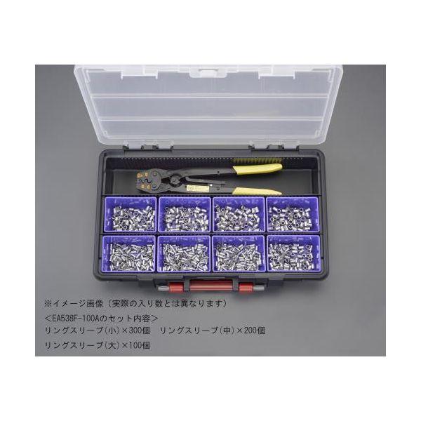 【個人宅配送不可】 エスコEA538F-100A 直送 代引不可・他メーカー同梱不可 圧着端子セット リングスリーブ EA538F100A