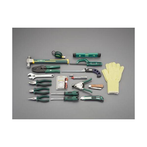 大人気の 直送 18個組 電気工事用工具セット:測定器・工具のイーデンキ 【個人宅配送】EA59 ・他メーカー同梱-DIY・工具