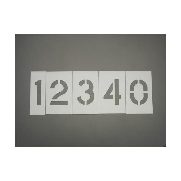 【個人宅配送不可】EA591BX-72 直送 代引不可・他メーカー同梱不可 約305mm/12枚組 ステンシルプレート プラスチック EA591BX72