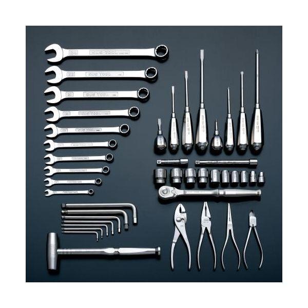 新しい季節 43個組 直送 ・他メーカー同梱 ステンレス工具セット EA612SC55:測定器・工具のイーデンキ 【個人宅配送】EA612SC-55-DIY・工具