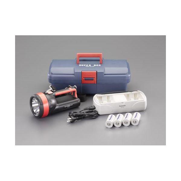 【個人宅配送不可】EA758RX-741 直送 代引不可・他メーカー同梱不可 単1x4本 フラッシュライト/LED 充電池セット EA758RX741