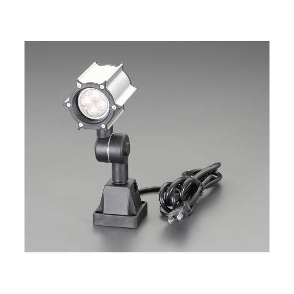 【個人宅配送不可】 エスコEA815LN-21B 直送 代引不可・他メーカー同梱不可 AC100V/ 6W 照明灯/LED 防水型/ホワイト EA815LN21B