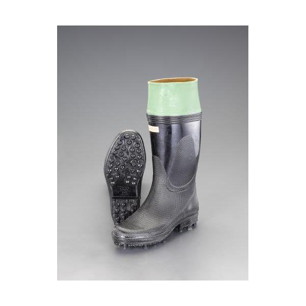 【個人宅配送不可】 エスコEA910MC-25.5 直送 代引不可・他メーカー同梱不可 25.5cm 長靴 スパイク底 EA910MC25.5