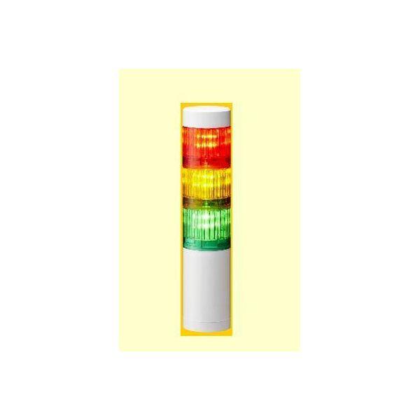 【個人宅配送不可】 エスコEA983FW-37A 直送 代引不可・他メーカー同梱不可 AC90-250V LED小型積層信号灯 3色 EA983FW37A
