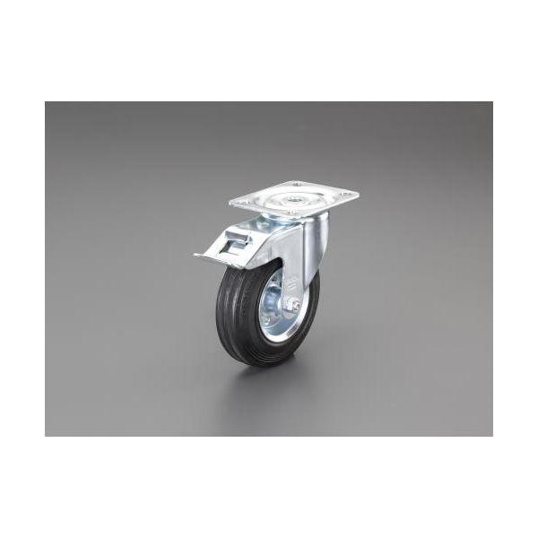 【個人宅配送不可】EA986GL-23 直送 代引不可・他メーカー同梱不可 160mm キャスター 自在金具・ブレーキ付/耐熱 EA986GL23
