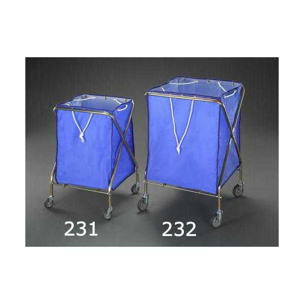 【個人宅配送不可】 エスコEA995AA-232 直送 代引不可・他メーカー同梱不可 660x640x940mm/236L ダストカート EA995AA232