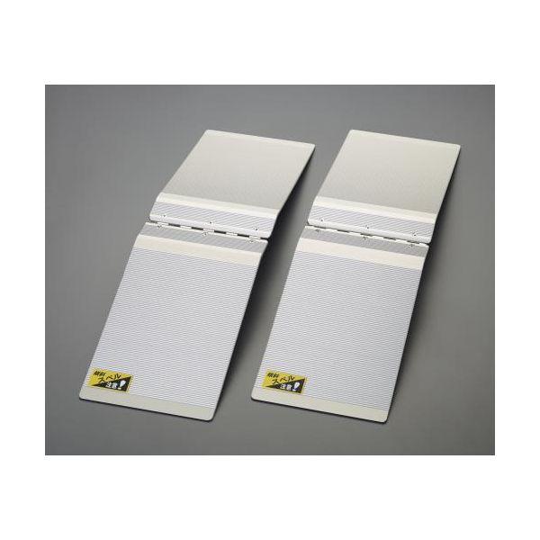 【個人宅配送不可】EA520MZ-25 直送 代引不可・他メーカー同梱不可 200x685mm アルミスロープ ステップオーバ-型/2個 EA520MZ25
