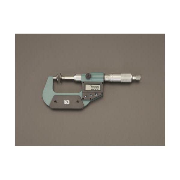 【個人宅配送不可】EA725EH-75 直送 代引不可・他メーカー同梱不可 0- 25mm デジタルマイクロメーター 歯厚 EA725EH75