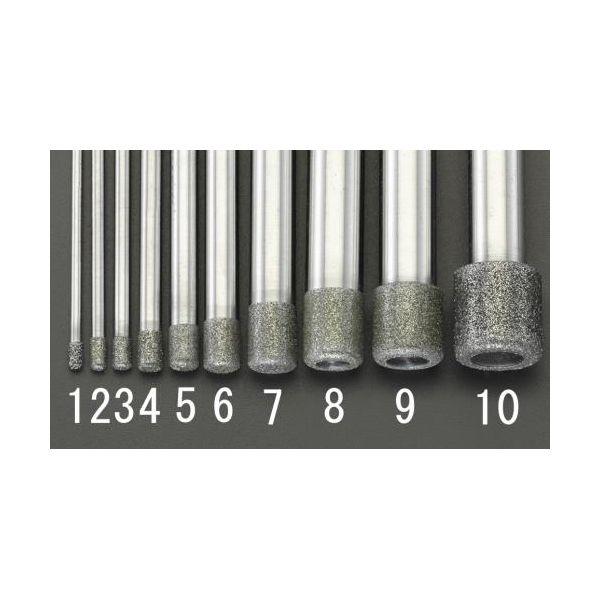 【個人宅配送不可】 エスコEA819DY-10 直送 代引不可・他メーカー同梱不可 15x15.0x100mm ダイヤモンドバー 10mm軸 EA819DY10
