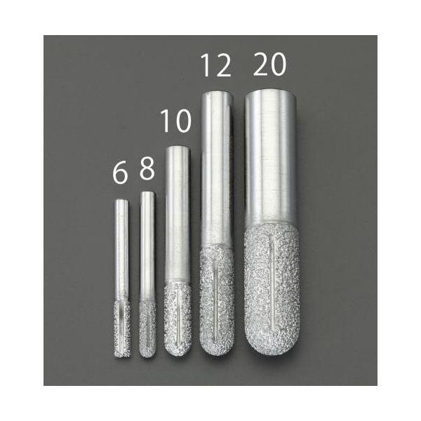 【個人宅配送不可】 エスコEA827ES-10 直送 代引不可・他メーカー同梱不可 10mm ダイヤモンドルーター 複合材用/先丸 EA827ES10