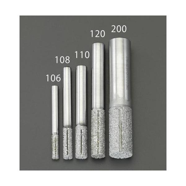 【個人宅配送不可】 エスコEA827ES-120 直送 代引不可・他メーカー同梱不可 12mm ダイヤモンドルーター 複合材用/円筒 EA827ES120