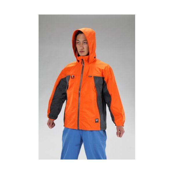【個人宅配送不可】EA996CE-7 直送 代引不可・他メーカー同梱不可 L 全天候対応透湿型ジャケット オレンジ EA996CE7