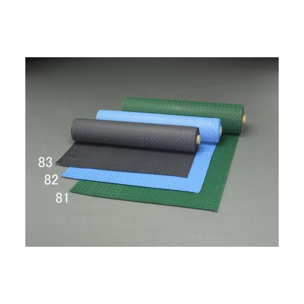 【個人宅配送不可】EA997RA-82 直送 代引不可・他メーカー同梱不可 0.92x10m /2.0mm ノンスリップマット 青 EA997RA82
