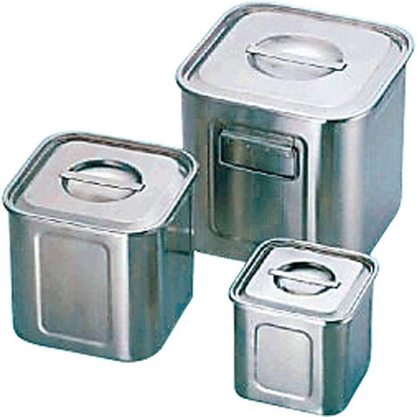 4520785066214 三宝産業 UK18-8深型角キッチンポット39cm手付