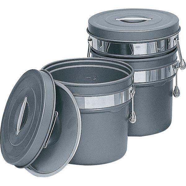 4702217101605 オオイ金属 内外ハードコートアルマイト段付二重食缶 16L 250-H 4702217101605 オオイ金属 内外ハードコートアルマイト段付二重食缶 16L 250-H