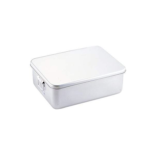 4702650800608 オオイ金属 アルマイト プレス製パン箱 蓋付 260-A