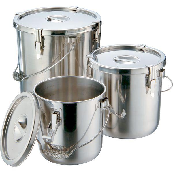 4967151007691 エムテートリマツ MT18-8テーパー汁食缶3ヶ所クリップ付 24cm