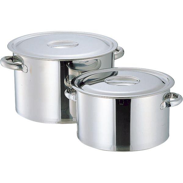 ※アウトレット品 4967151011056 エムテートリマツ MT 42cm 格安 価格でご提供いたします 18-8厚底半寸胴鍋