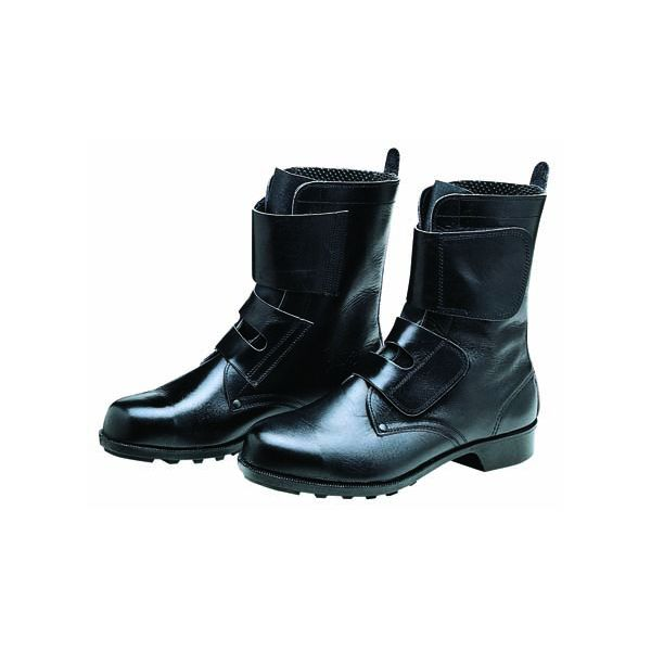 【個数:1個】ディアドラ DIADORA 4979058023384 直送 代引不可・他メーカー同梱不可 安全靴 ワークブーツ マジック ラバー1層底 耐滑 654 ブラック 24.0