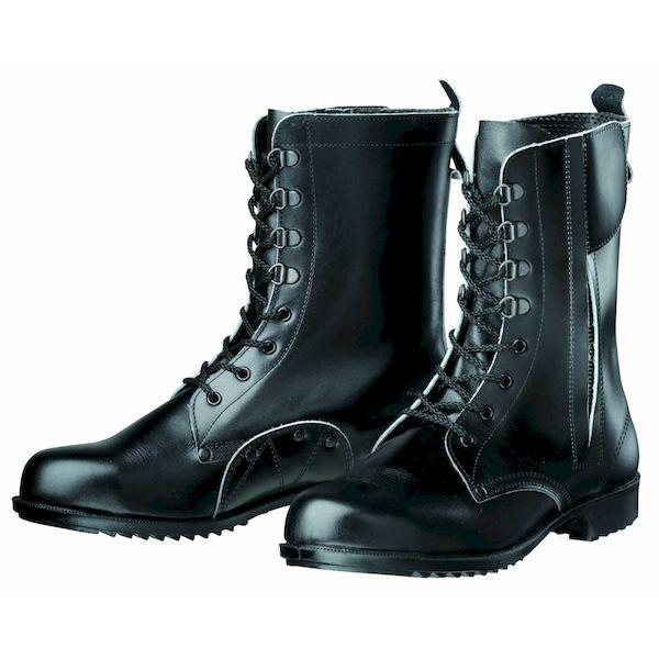 【個数:1個】ディアドラ DIADORA 4979058025999 直送 代引不可・他メーカー同梱不可 安全靴 長編上ブーツ ラバー1層底 耐滑 604ATDG ブラック 24.5