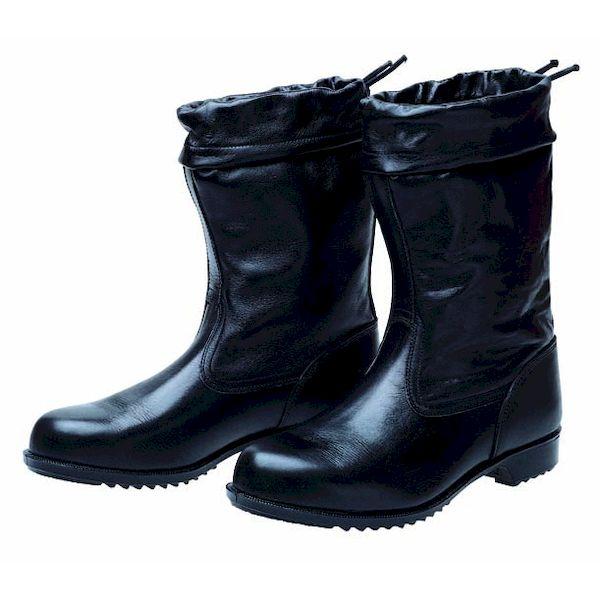 【個数:1個】ディアドラ DIADORA 4979058031945 直送 代引不可・他メーカー同梱不可 安全靴 半長靴 カバー付 ラバー1層底 耐滑 ソフト半長靴セブン ブラック 24.5