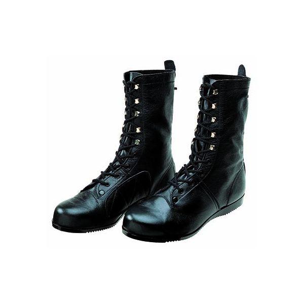 【個数:1個】ディアドラ DIADORA 4979058080868 直送 代引不可・他メーカー同梱不可 安全靴 長編上ブーツ 高所・構内用 ラバー1層底 耐滑 出初め長編上靴 ブラック 25.5