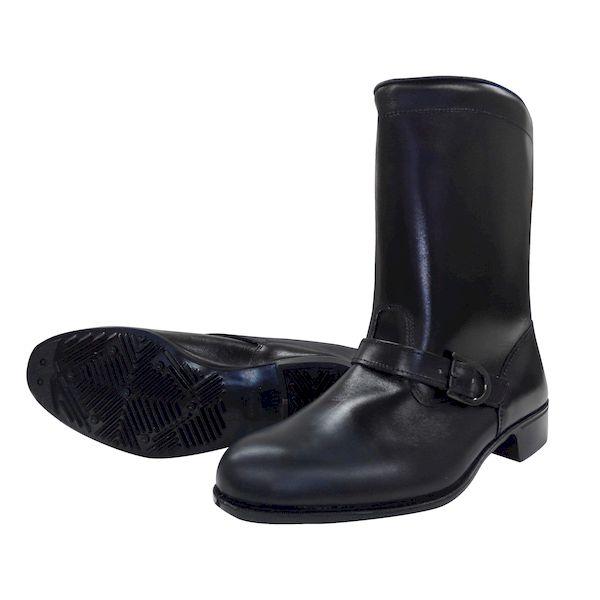 【個数:1個】ディアドラ DIADORA 4979058280077 直送 代引不可・他メーカー同梱不可 作業靴 半長靴 バンド付 ラバー1層底 耐滑 安全靴ではありません 306バンド付き ブラック 24.5