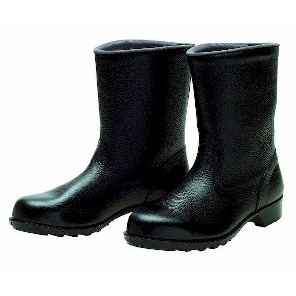 【個数:1個】ディアドラ DIADORA 4979058287915 直送 代引不可・他メーカー同梱不可 安全靴 半長靴 ラバー1層底 耐滑 606静電 ブラック 25.5